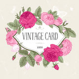 Vector vintage postcard. Royalty Free Stock Photos