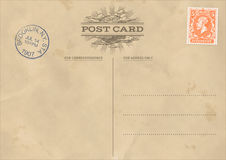 Vector Vintage Postcard Template Royalty Free Stock Images