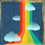 Vector vintage rainbow background Royalty Free Stock Photography