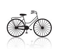 Vector vintage retro bicycle silhouette, icon Stock Photos