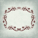 Vector vintage retro border frame
