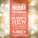 Vector Vintage retro christmas label Royalty Free Stock Images