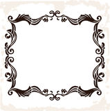 Vector vintage retro frame. Decorative background Stock Images