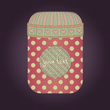 Vector vintage retro jar with sticker. For your text Royalty Free Stock Photography