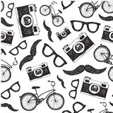 Vector vintage, retro seamless hipster background Stock Images