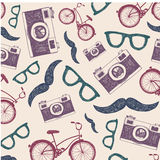 Vector vintage, retro seamless hipster background Royalty Free Stock Image