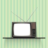 Vector Vintage Retro Televison Stock Photography