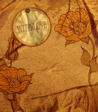 Vector vintage romantic background with flowers Stock Image