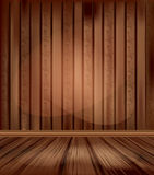 Vector vintage room with wooden floors Stock Photos