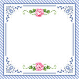 Vector vintage roses in blue Stock Images