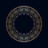 Vector vintage round ornaments. Royalty Free Stock Photos
