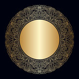 Vector vintage round rosette. Royalty Free Stock Photo
