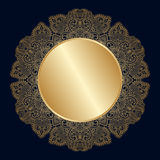 Vector vintage round rosette. Stock Images