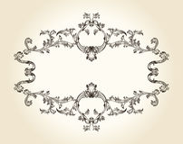 Vector vintage royal old frame ornament decor text Stock Photography