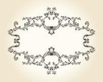 Vector vintage royal old frame ornament decor text. Illustration Stock Photography