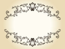Vector vintage royal retro frame ornament Stock Photos