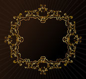 Vector vintage royal retro frame ornament gold Stock Images