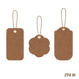 Vector vintage sale tags from grunge cardboard Royalty Free Stock Photography