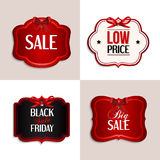 Vector vintage sale tags. Stock Photo