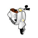 Vector vintage scooter vector illustration