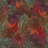 Vector vintage seamless abstract floral pattern Royalty Free Stock Photo