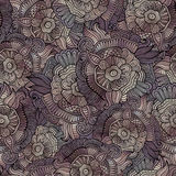 Vector vintage seamless abstract flowers pattern Royalty Free Stock Photo