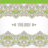 Vector vintage seamless border in Eastern style. Royalty Free Stock Image