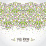 Vector vintage seamless border in Eastern style. Royalty Free Stock Photos