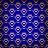 Vector vintage seamless with damask pattern Stock Images