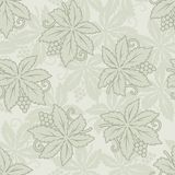 Vector vintage seamless grapes and leaves Royalty Free Stock Photo