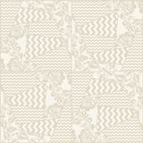 Vector vintage seamless patchwork pattern Royalty Free Stock Photos