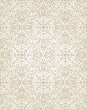 Vector vintage seamless pattern in Eastern style. Royalty Free Stock Images
