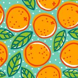 Retro pattern with oranges. Stock Photo