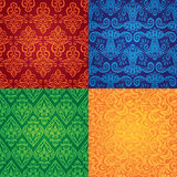 Vector vintage seamless patterns. Set of vintage seamless patterns stock illustration