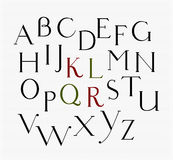 Vector vintage serif font Royalty Free Stock Photography