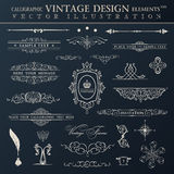Vector vintage set. Calligraphic elements and page decoration pr