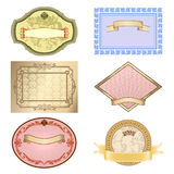 Vector vintage set. Romantic frames ornate label Royalty Free Stock Images