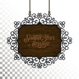 Vector Vintage signboard Stock Photography