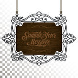 Vector Vintage signboard Royalty Free Stock Photo