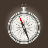 Vector vintage silver compass Stock Photo
