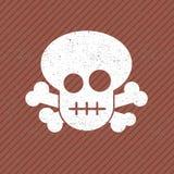 Vector vintage skull sticker Royalty Free Stock Photos