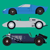 Vector vintage sport racing car Stock Images