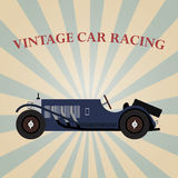 Vector vintage sport racing car Royalty Free Stock Photography