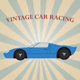 Vector vintage sport racing car Stock Photos