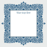 Vector vintage square frame with flowers Stock Images