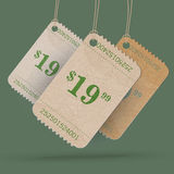 Vector vintage stickers Royalty Free Stock Photography