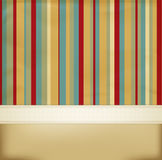 Vector vintage striped abstract background Royalty Free Stock Photography
