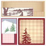 Vector vintage Style background Christmas Royalty Free Stock Image