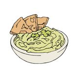 Vector vintage style Illustration of hummus with vector illustration