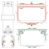 Vector vintage style labels and tags on different versions Royalty Free Stock Photography